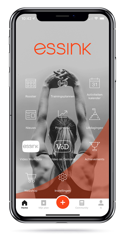 Essink Fitness Eindhoven app